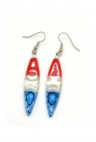 Long Team USA Glass Earrings